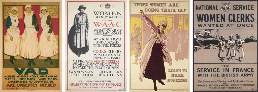 Posters aimed at women in World War One